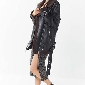 Urban Outfitters Faux Leather Aviator Jacket